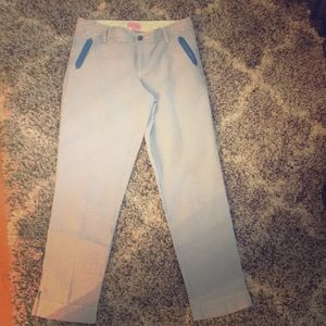 Lilly Pulitzer blue and white striped pants